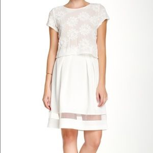 Lucy Paris White A-line Skirt | Never Worn